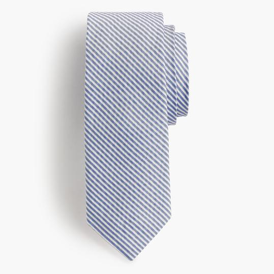 Jcrew English Silk Tie in Seersucker