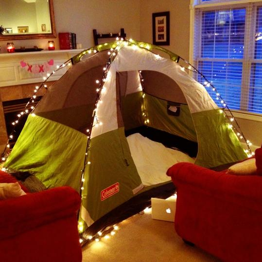 12 Ways to Use Your Christmas Lights in the Summer Indoor Camping