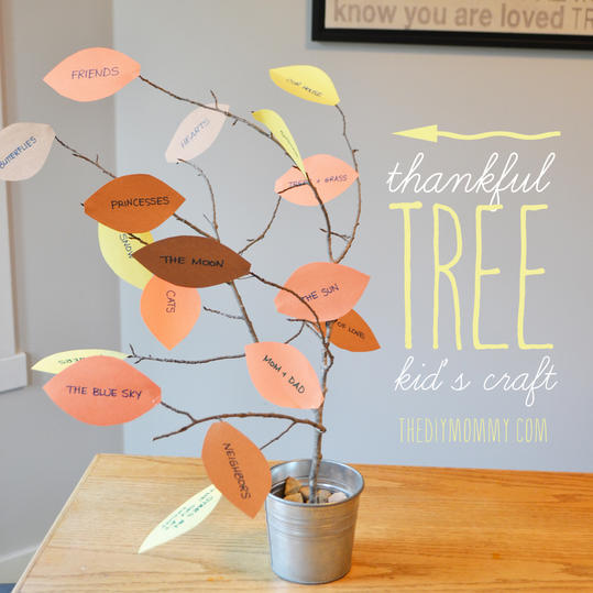 Fall Crafts for Kids: Thankful Tree Craft
