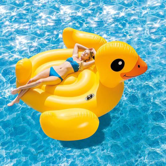 Mega Yellow Duck Island Float