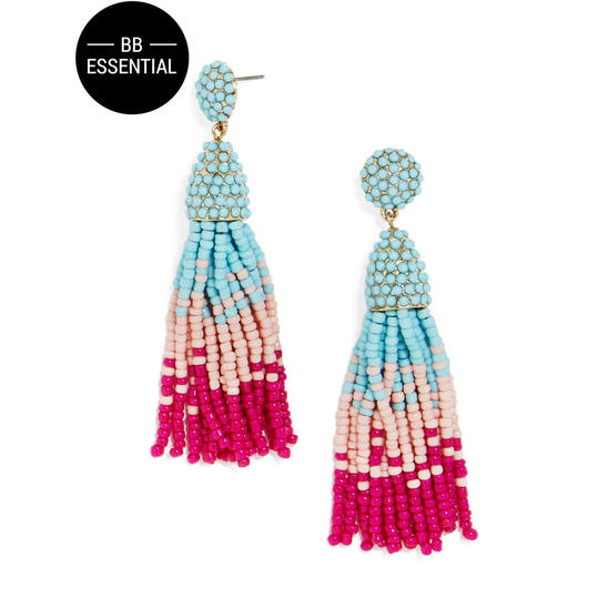Pinata Tassel Drops in Blue and Pink