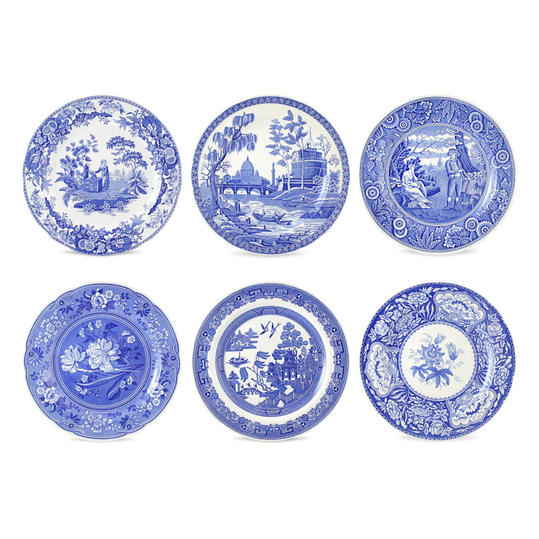 Spode Blue Room  sc 1 st  Southern Living : blue and white plate set - pezcame.com