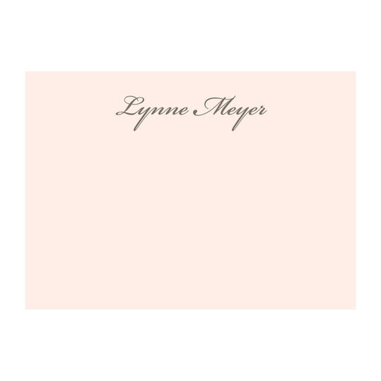 Rose Script Personalized Stationery