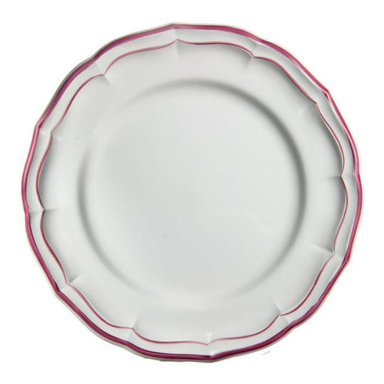 Our Favorite Pink and White China Gien, 'Filets Rose'