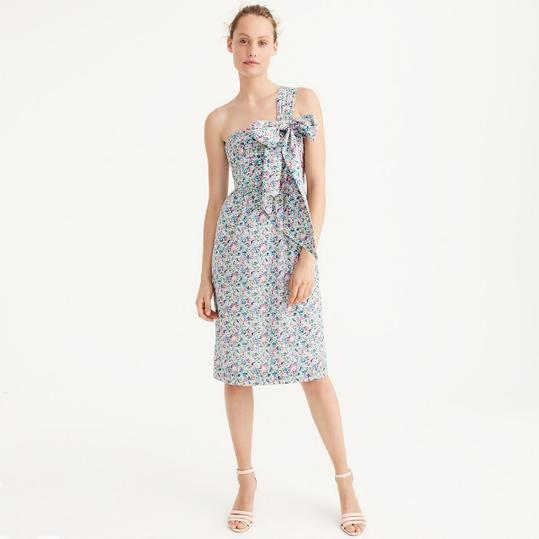 One-Shoulder Tie Dress in Liberty Claire-Aude Floral