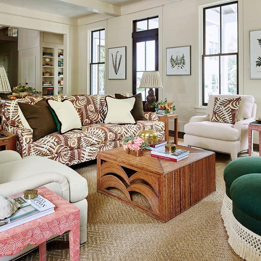 Mix Textures, Patterns, And Design Styles. The Living Room
