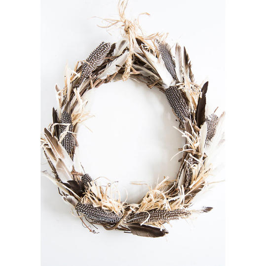 Bohemian Feather Wreath