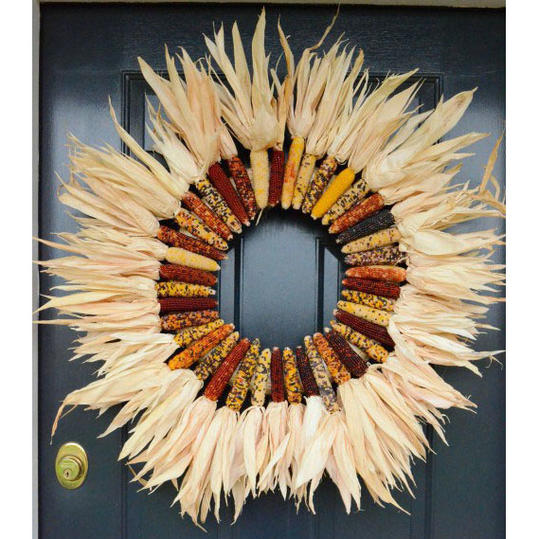 Indian Corn Wreath