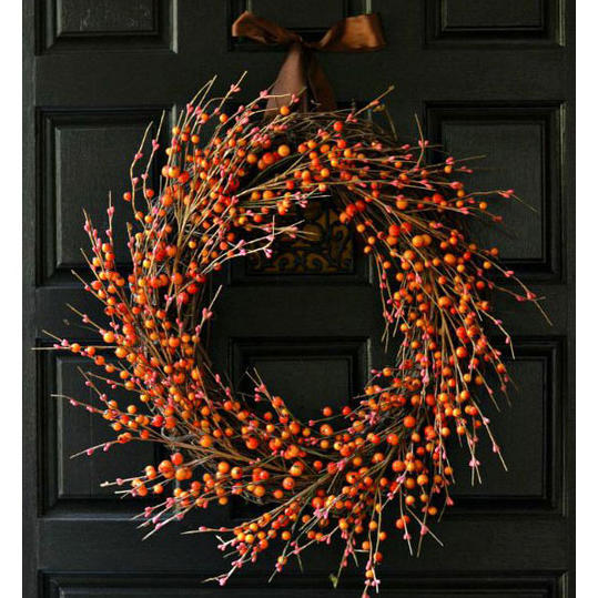 Grape Vine & Orange Berry Wreath