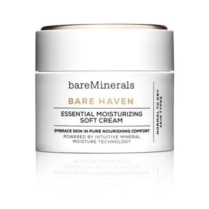 RX1707_ All-Time Best Skincare Secrets BareMinerals Bare Haven Essential Moisturizing Soft Cream
