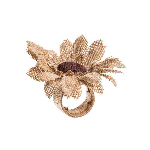 Burlap Sunflower Napkin Ring