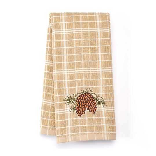 Celebrate Local Life Together Pinecone Patch Kitchen Towel