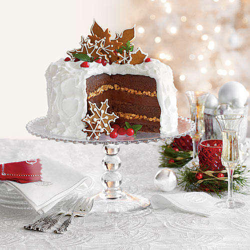 RX_1708_Office Christmas Party Cakes_Chocolate-Gingerbread-Toffee Cake