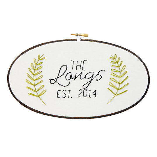 Personalized Family Name Embroidery