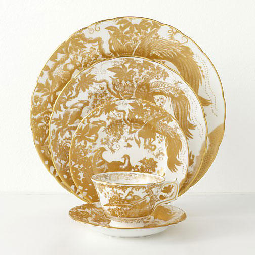 Royal Crown Derby 'Gold Aves'