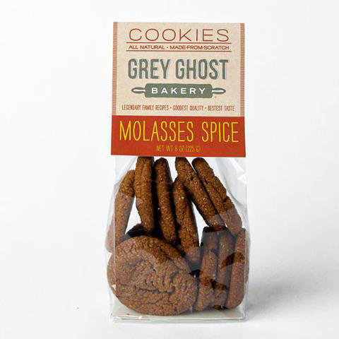 Grey Ghost Molasses Spice Cookies