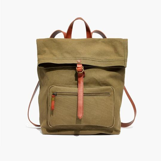 Madewell Canvas Foldover Backpack