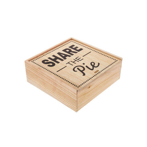 'Share the Pie' Wood Box