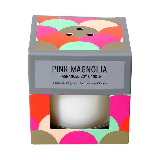 SOHO Brights Pink Magnolia Glass Candle