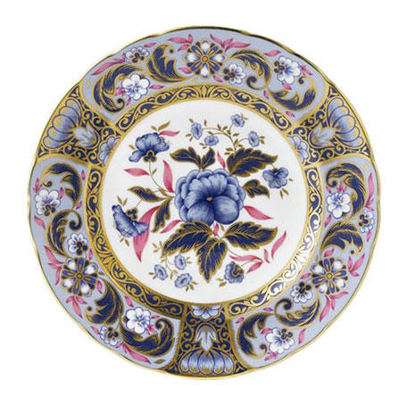 Royal Crown Derby 'Blue Camellias'