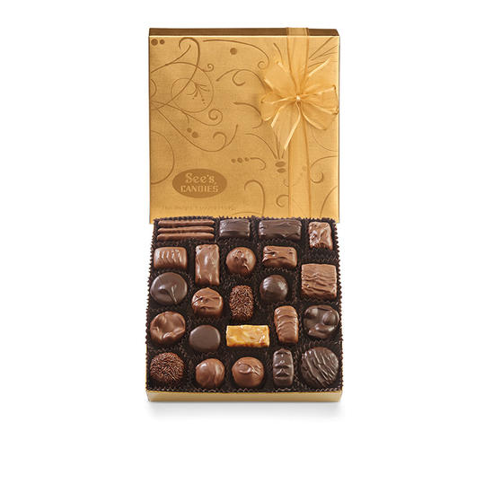 Gold Fancy Chocolate Box