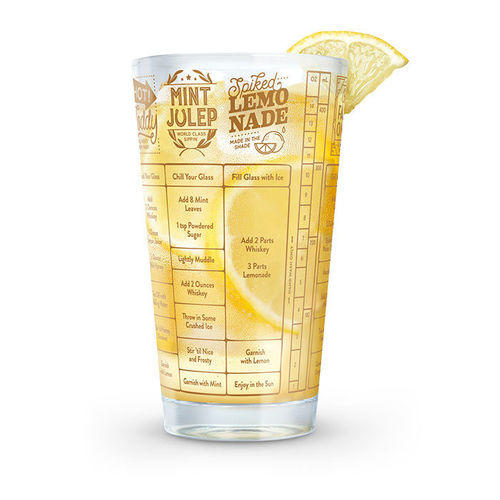 Good Measure Whiskey Recipe Glass