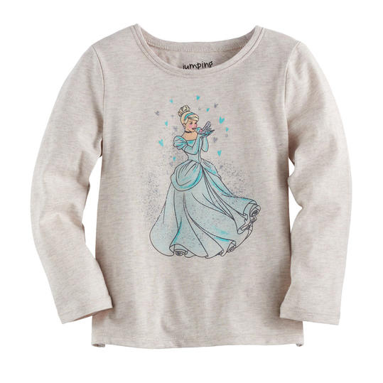Cinderella Toddler Girl Glittery Graphic Tee