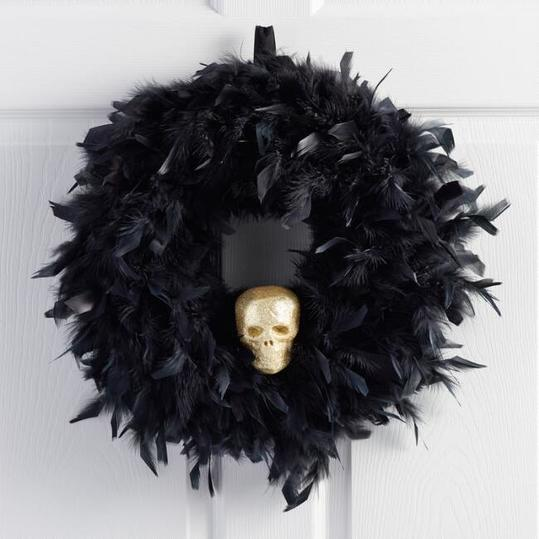 Feather and Skull Wreath