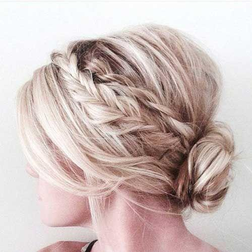 Low Braided Bun
