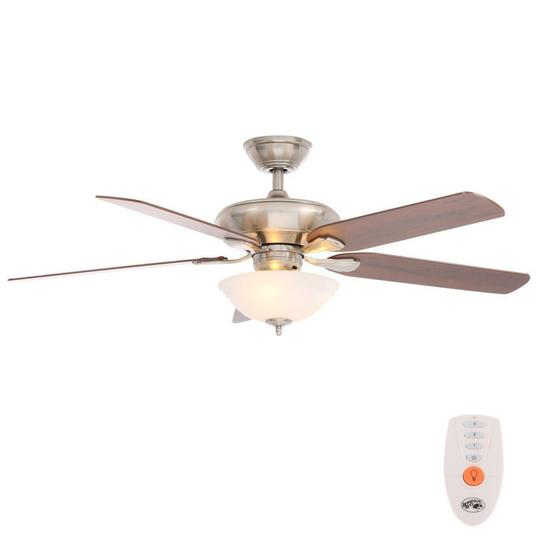 Classic Indoor Brushed Nickel Ceiling Fan