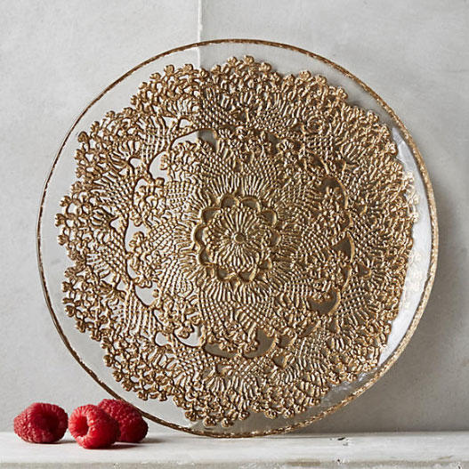 Anthropologie 'Metallic Lace'