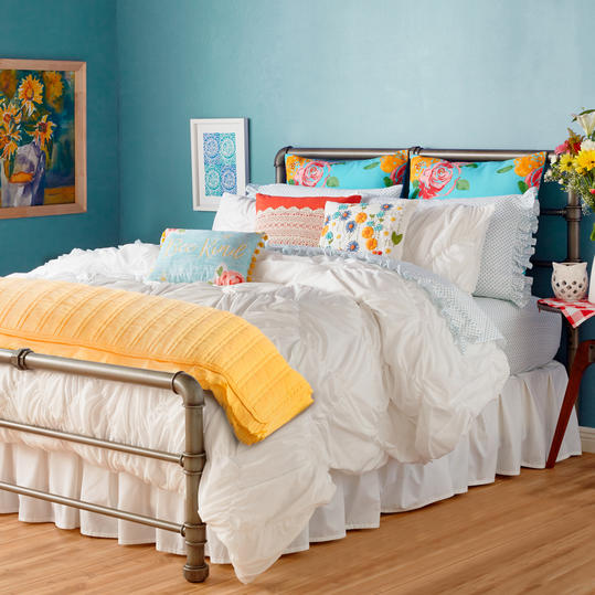 Ruched Chevron Comforter