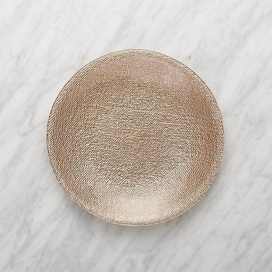 Crate & Barrel 'Shimmer Rose Gold'