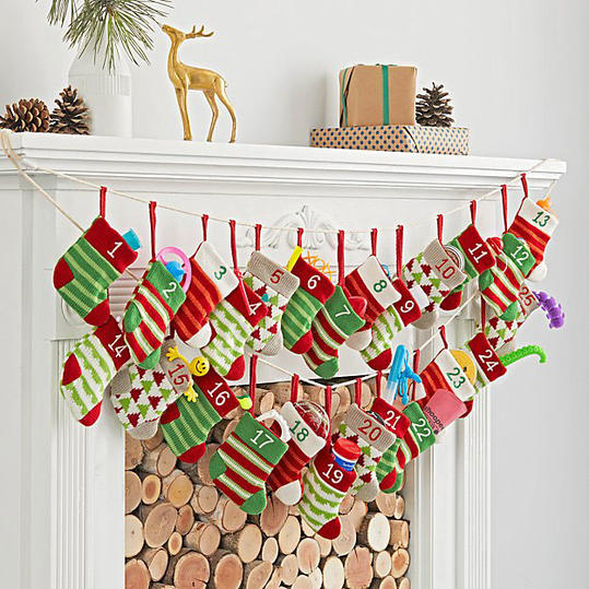 Stocking Advent Calendar Garland