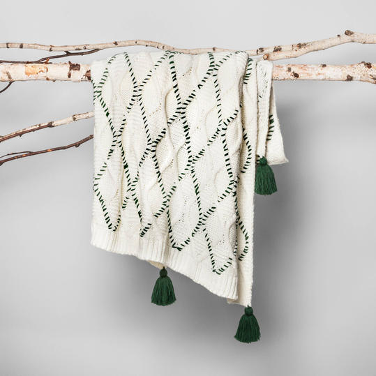 Woven Tassel Throw Blanket from Hearth and Hand
