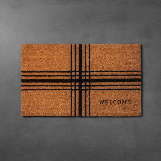 Plaid Coir Doormat from Hearth and Hand