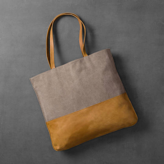 Canvas and Leather Tote Bag from Hearth and Hand