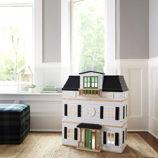 Wooden Dollhouse with Furniture from Hearth and Hand