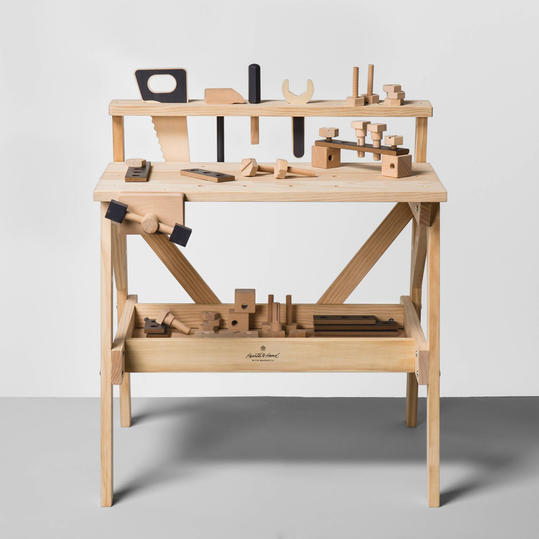 Wooden Toy Tool Bench from Hearth and Hand