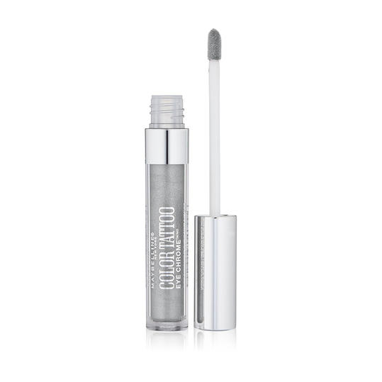 Maybelline New York Color Tattoo Eye Chrome In Silver Spark