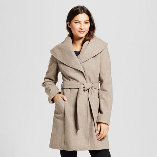 Wool Shawl Collar Wrap Coat