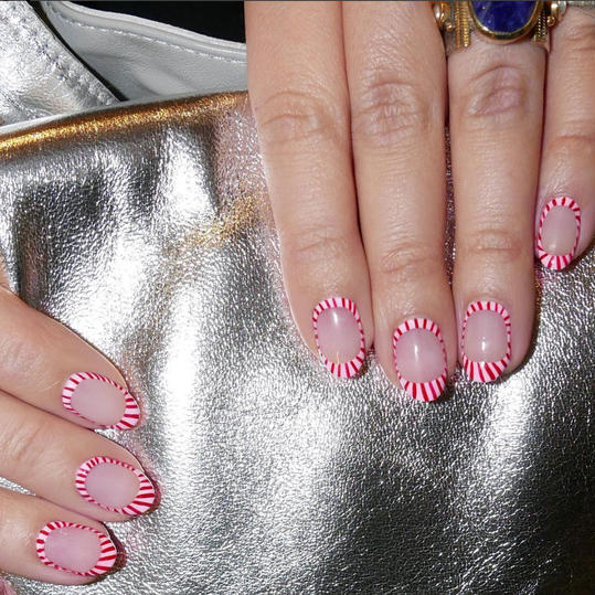 25 valentines day nail designs youll love southern living candy striped prinsesfo Images