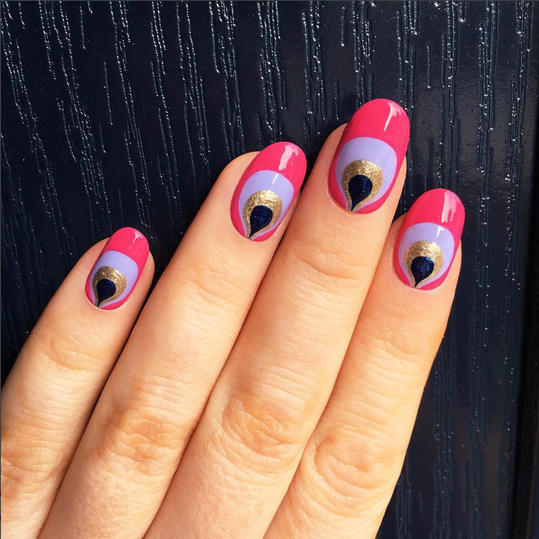 25 valentines day nail designs youll love southern living cute plumes prinsesfo Image collections