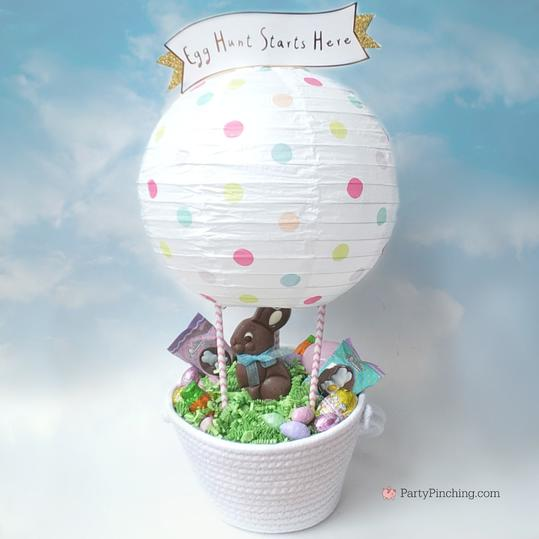 DIY Hot Air Balloon Easter Basket