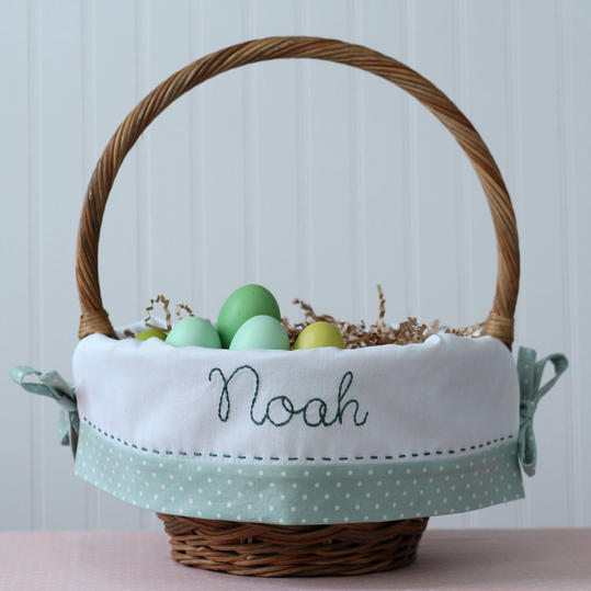 Personalized easter baskets ideas for all ages southern living embroidered boys basket negle Images