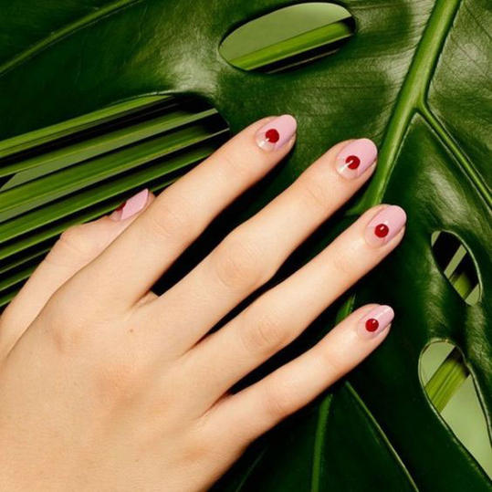 25 valentines day nail designs youll love southern living polka dotted prinsesfo Images