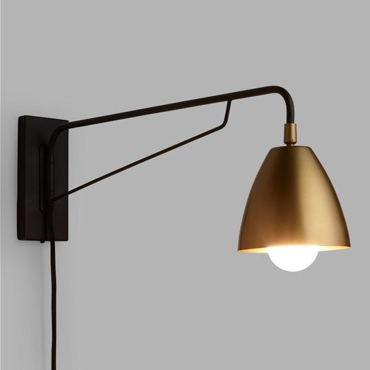 Brass Nook Pivoting Wall Sconce
