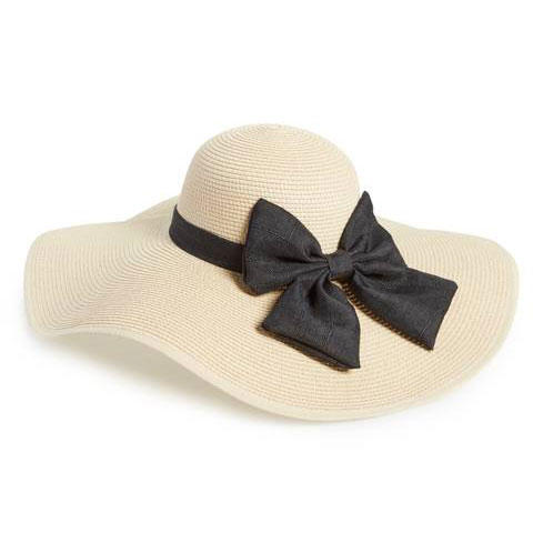 Oversized Bow Straw Hat