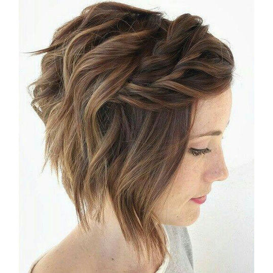 Braided Bangs for Stacked Bob