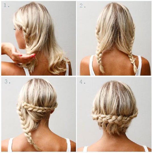 Lace-Braided Updo
